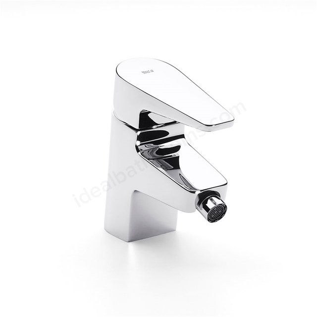 Roca ESMAI Bidet Mixer Tap, No Waste, 1 Tap Hole, Chrome