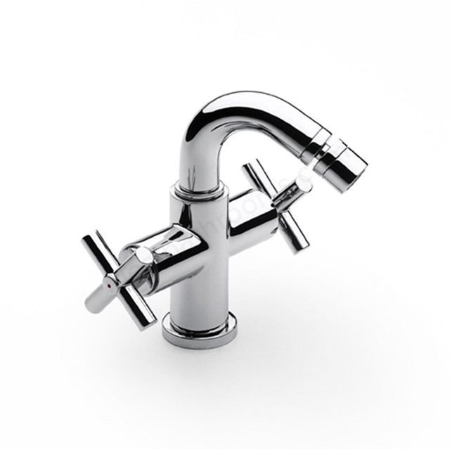 Roca LOFT Bidet Mixer Tap, Pop Up Waste, 1 Tap Hole, Chrome