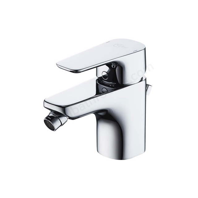 Ideal Standard TEMPO Bidet Mixer Tap, with Pop Up Waste, 1 Tap Hole, Chrome