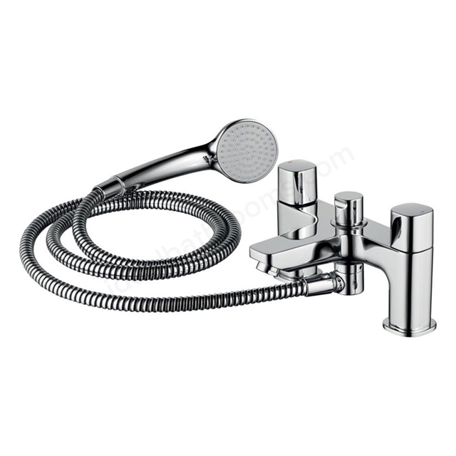 Ideal Standard TEMPO Bath Shower Mixer Tap, Includes Shower Kit, 2 Tap Hole, Chrome