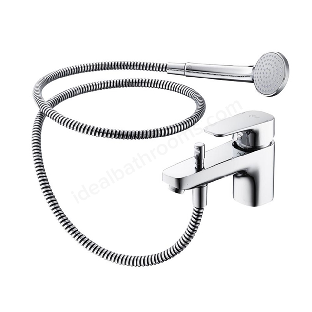 Ideal Standard TEMPO Bath Shower Mixer Tap, Includes Shower Kit, 1 Tap Hole, Chrome