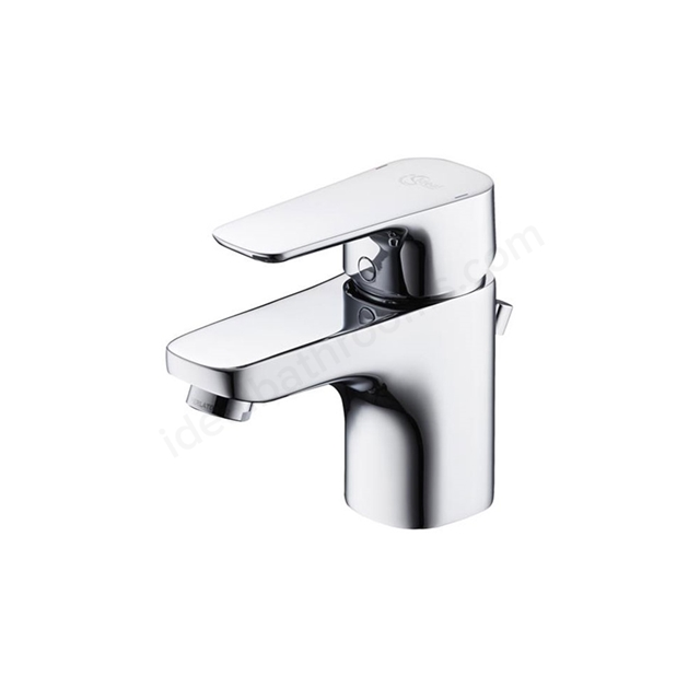 Ideal Standard TEMPO Basin Mixer Tap, with 5 Litre Regulator, with Pop Up Waste, 1 Tap Hole, Chrome