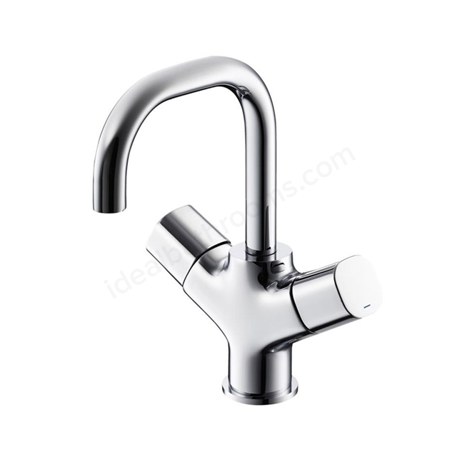 Ideal Standard TEMPO Basin Mixer Tap, Dual Control, with 5 Litre Regulator, 1 Tap Hole, Chrome