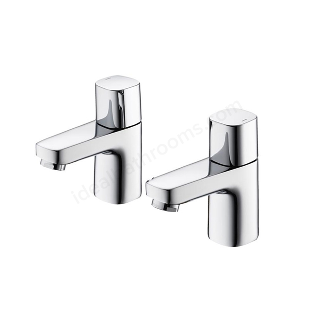 Ideal Standard TEMPO Basin Pillar Taps (Pair), Chrome