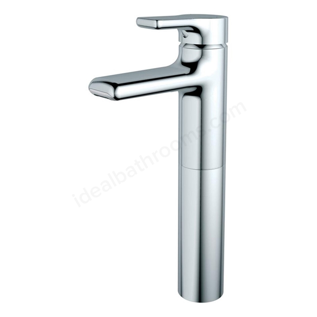Ideal Standard ATTITUDE Basin Mixer Tap, for Vessel Basins, Waterfall Outlet, No Waste, 1 Tap Hole, Chrome