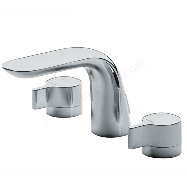 Ideal Standard MELANGE Basin Mixer Tap, Dual Control, with Pop Up Waste, 3 Tap Hole, Chrome