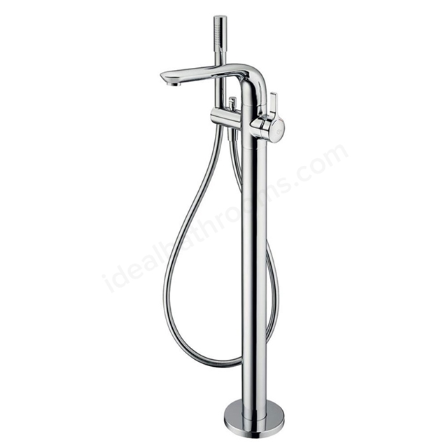 Ideal Standard MELANGE Floor Standing Bath Shower Mixer Tap, Includes Shower Kit, 1 Tap Hole, Chrome