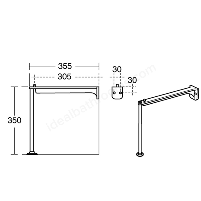 Ideal Standard Legs & Bearers 350mm High