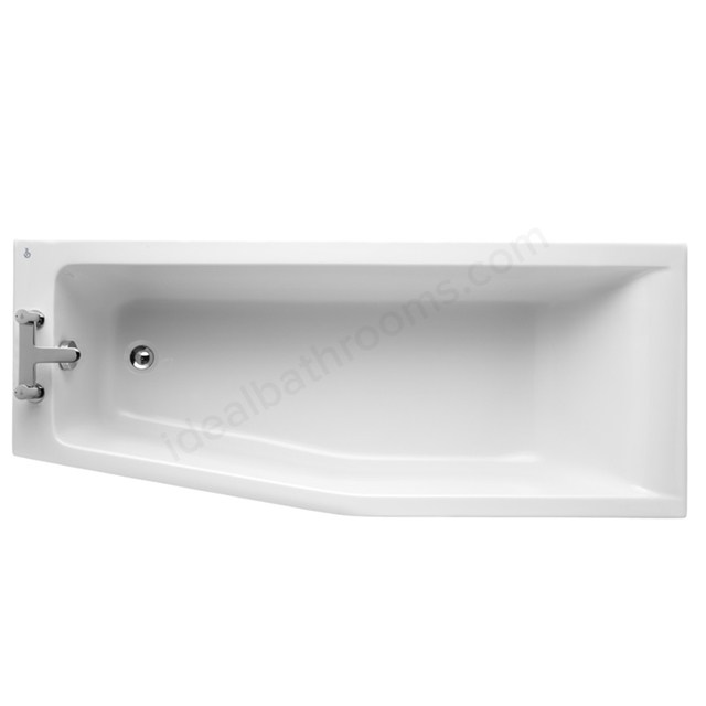 Ideal Standard Idealform+ Spacemaker Shower Bath; Concept; No Tap Hole; White 1700 x 700mm Left Hand