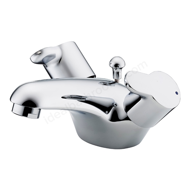 Ideal Standard Elements Lever Dual Control Basin Mixer with Lever Handles