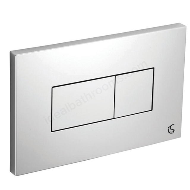 Ideal Standard Karisma Dual Flush Plate - for use with Conceala 2 Cisterns - Chrome Finish