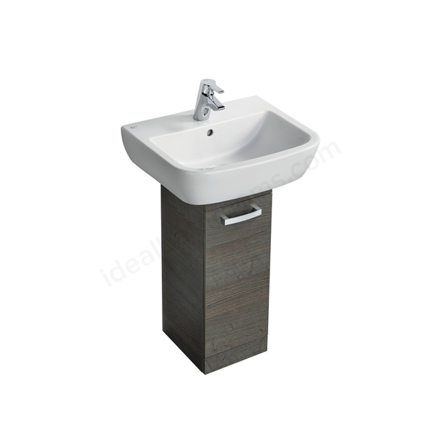 Ideal Standard Tempo 550mm Pedestal Unit and Basin Pack - Sandy Grey Oak