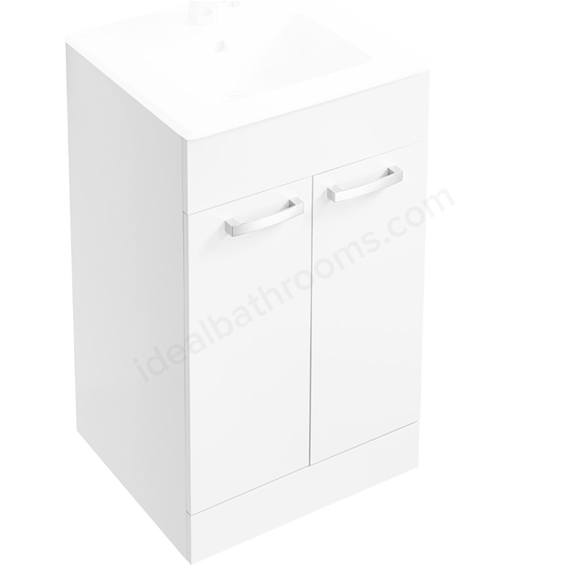 Ideal Standard Tempo 500mm Floorstanding Vanity Basin Unit - White