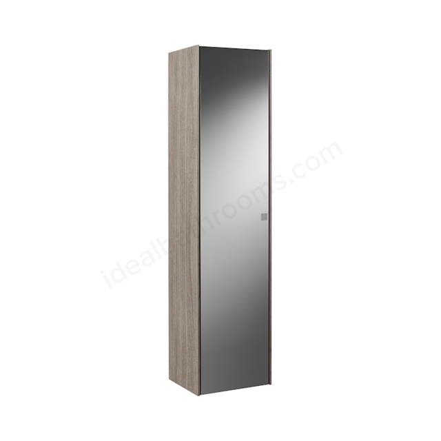 Roca INSPIRA 1600MM COLUMN UNIT - LEFT HAND -   CITY OAK WITH SMOKED GLASS MIRROR