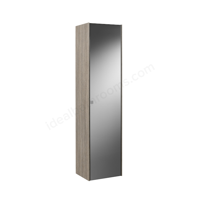 Roca INSPIRA 1600MM COLUMN UNIT - RIGHT HAND -  CITY OAK WITH SMOKED GLASS MIRROR
