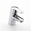 Roca VICTORIA (V2) Basin Mixer Tap, Pop Up Waste, 1 Tap Hole, Chrome
