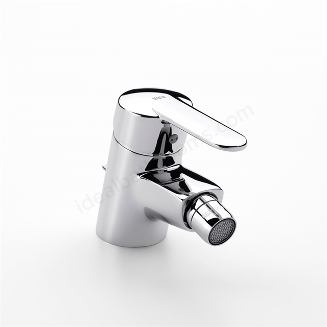 Roca VICTORIA (V2) Bidet Mixer Tap, No Waste, 1 Tap Hole, Chrome