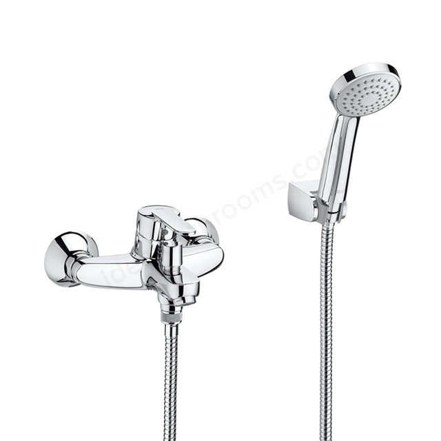 Roca VICTORIA  Wall Mounted Bath Shower Mixer Tap; with Shower Handset