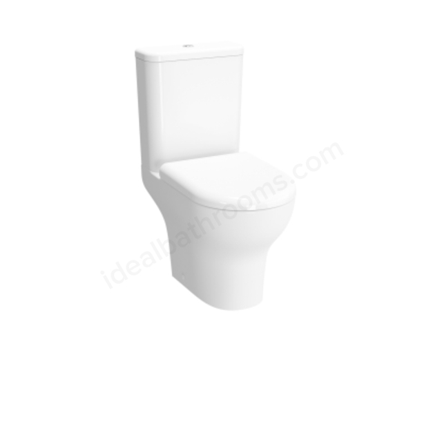 Vitra Zentrum White Rim-ex Horizontal Outlet close-coupled pan; Open-back