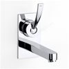 Roca MOAI Wall-mounted Basin Mixer Tap on Chrome Plate, No Waste, Chrome