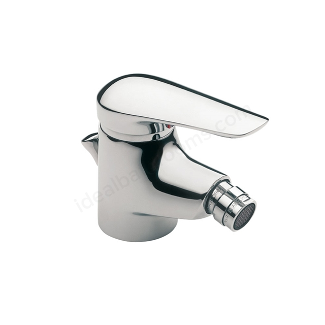 Roca MONOJET-N Bidet Mixer Tap, Pop Up Waste, 1 Tap Hole, Chrome