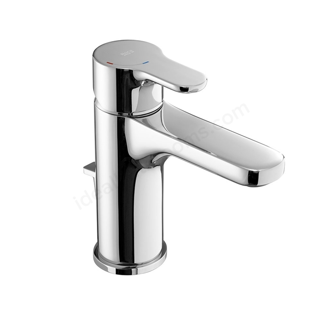 Roca L20 Basin Mixer Tap, Pop Up Waste, 1 Tap Hole, Chrome
