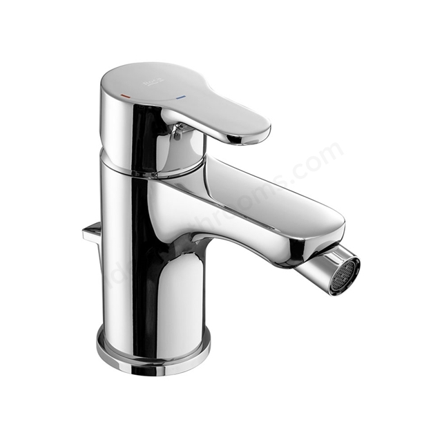 Roca L20 Bidet Mixer Tap, Pop Up Waste, 1 Tap Hole, Chrome