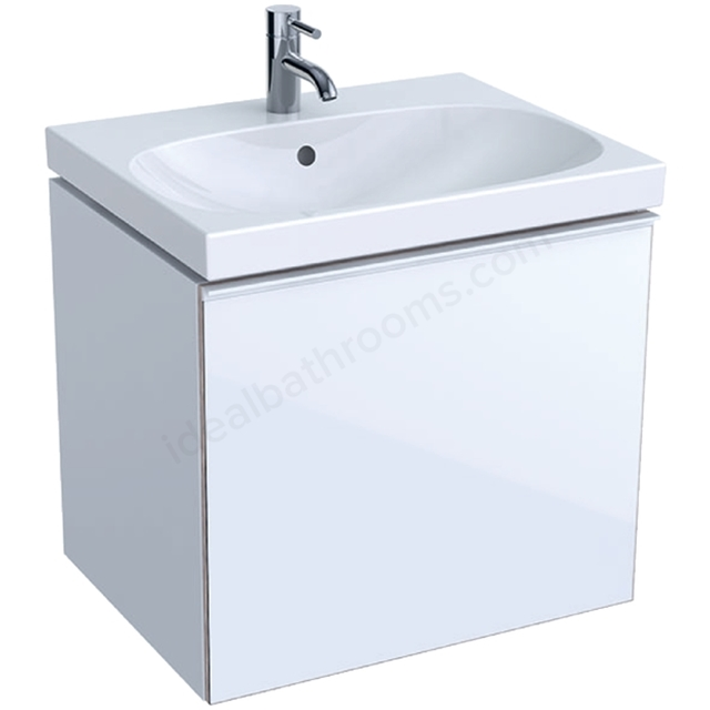 Geberit Acanto 600mm Washbasin Unit White