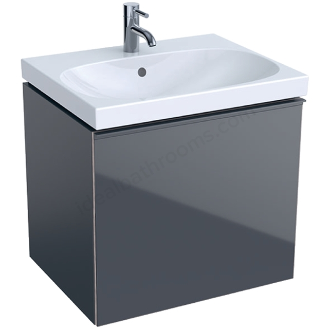 Geberit Acanto 600mm Washbasin Unit Lava Matt