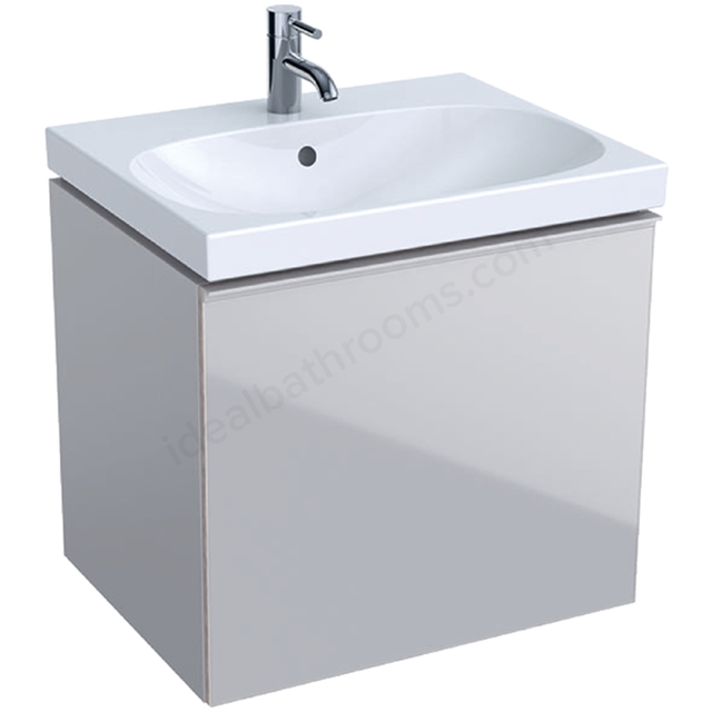 Geberit Acanto 600mm Washbasin Unit Sand