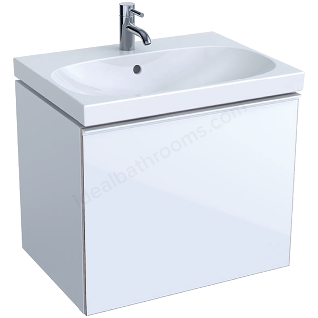 Geberit Acanto 650mm Washbasin Unit White