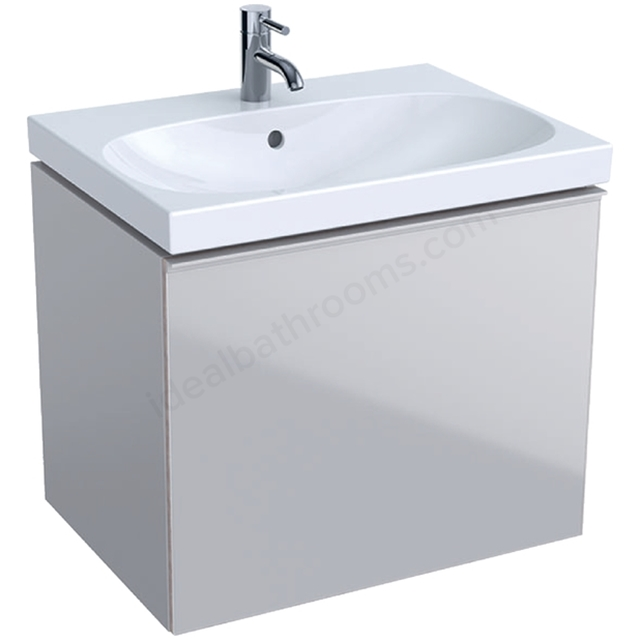 Geberit Acanto 650mm Washbasin Unit Sand