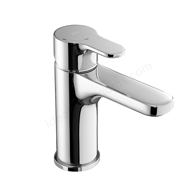 Roca L20 Smooth Body Basin Mixer Tap with 1.5 Inch Tail, No Waste, 1 Tap Hole, Chrome