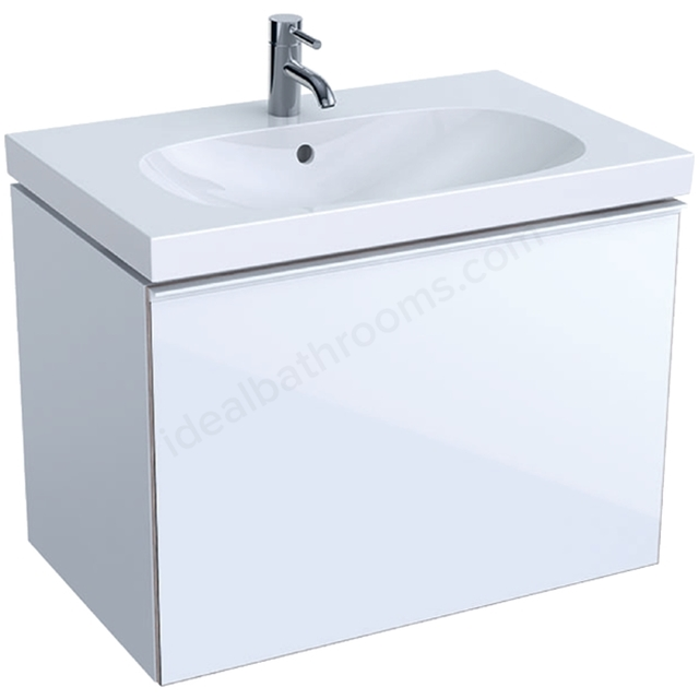 Geberit Acanto 750mm Washbasin Unit White