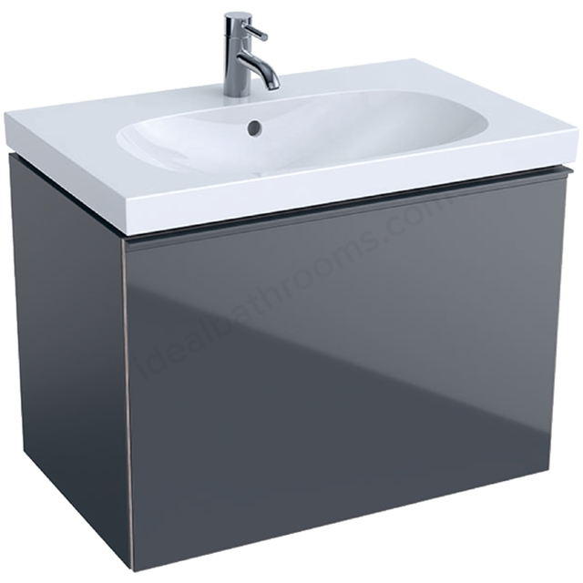 Geberit Acanto 750mm Washbasin Unit Lava Matt