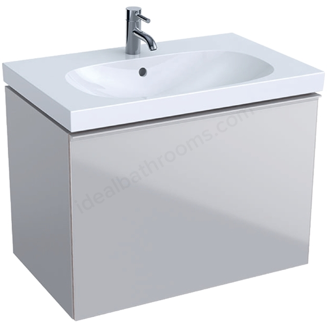 Geberit Acanto 750mm Washbasin Unit Sand