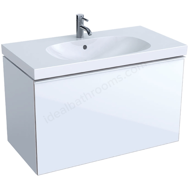 Geberit Acanto 900mm Washbasin Unit White