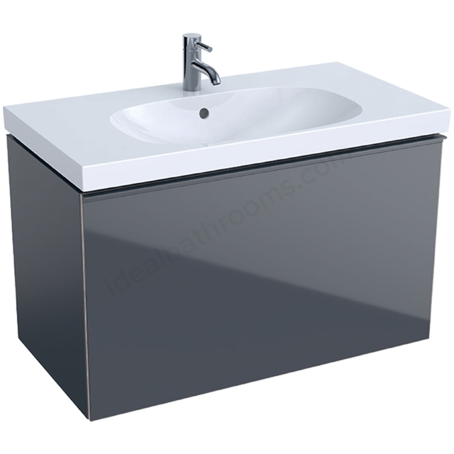 Geberit Acanto 900mm Washbasin Unit Lava Matt