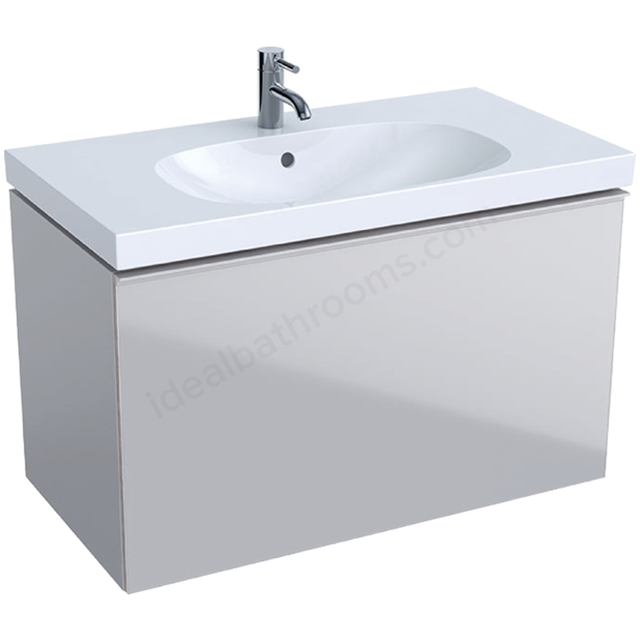 Geberit Acanto 900mm Washbasin Unit Sand