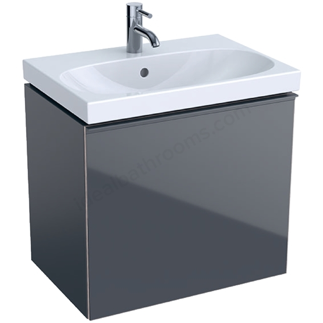 Geberit Acanto Compact 600mm Basin Unit Lava Matt