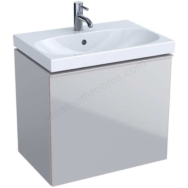 Geberit Acanto Compact 600mm Basin Unit Sand