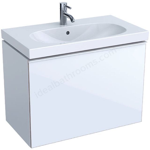 Geberit Acanto Compact 750mm Basin Unit White