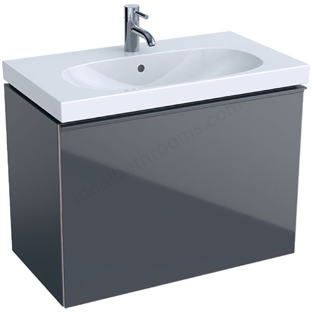 Geberit Acanto Compact 750mm Basin Unit Lava Matt
