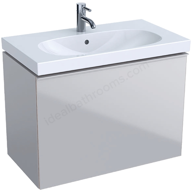 Geberit Acanto Compact 750mm Basin Unit Sand