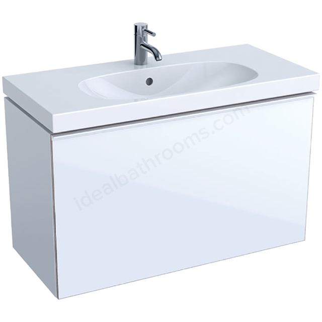Geberit Acanto Compact 900mm Basin Unit White