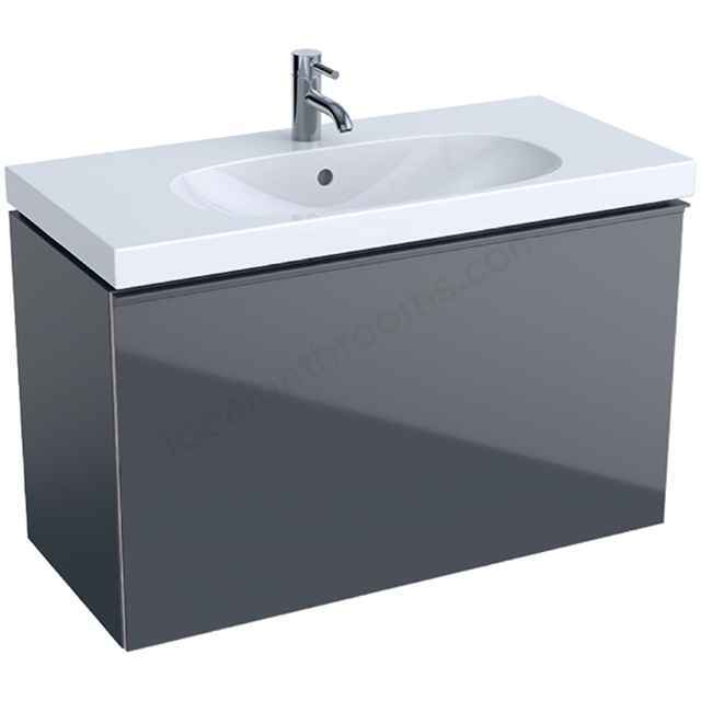 Geberit Acanto Compact 900mm Basin Unit Lava Matt