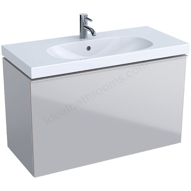 Geberit Acanto Compact 900mm Basin Unit Sand