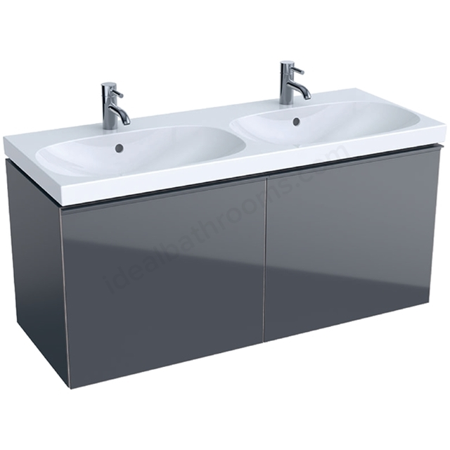 Geberit Acanto 1200mm Washbasin Unit Lava Matt