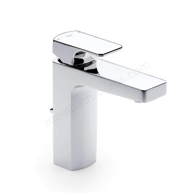 Roca L90 Basin Mixer Tap, Pop Up Waste, 1 Tap Hole, Chrome