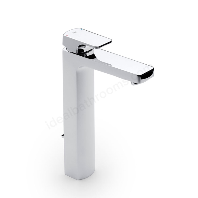 Roca L90 Extended Basin Mixer Tap, Pop Up Waste, 1 Tap Hole, Chrome